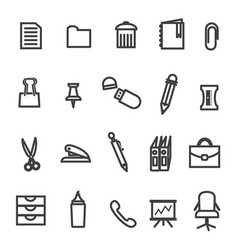 office tools icon set vector image