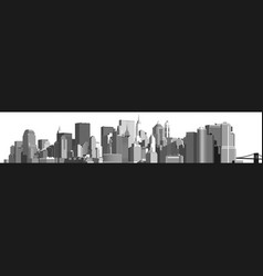 Panorama of the big city vector