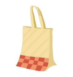 Paper bag icon cartoon style vector