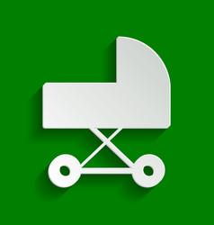 Pram sign paper whitish icon vector