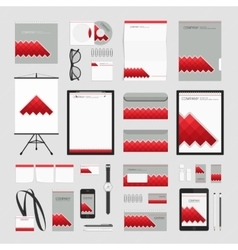 Red cube corporate style template vector image
