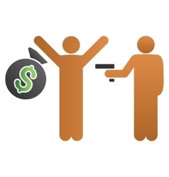 Robbery Gradient Icon vector image