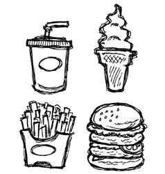 Scribble series - junkfood vector
