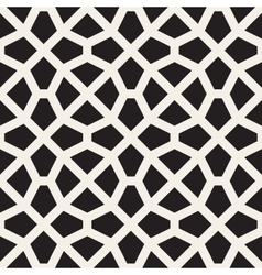 Seamless black and white mosaic lattice vector