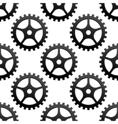 Seamless pattern of industrial gears or cog wheels vector image