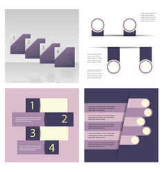 Set of abstract paper infografics eps10 vector