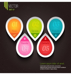 Set of five colorful icons vector image
