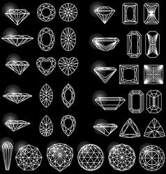 Set shapes diamond vector
