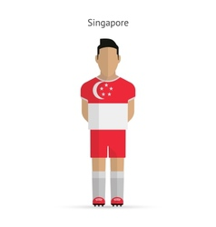 Singapore football player soccer uniform vector