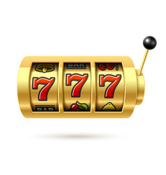 Slot machine with lucky sevens jackpot vector
