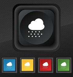 snowing icon symbol Set of five colorful stylish vector image