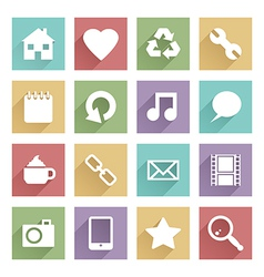 soft media icons set 1 vector image