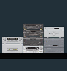 Sound shop hifi stereo audio components vector