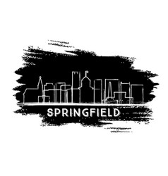 springfield illinois city skyline silhouette hand vector image