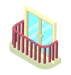 stylish balcony icon isometric 3d style vector image