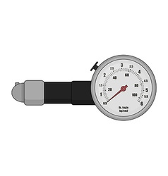Tire pressure gauge Color vector image