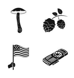 tourism nature ecology and other web icon in vector image