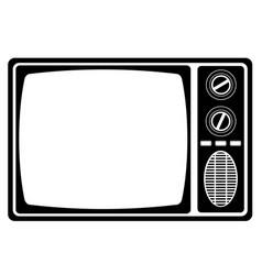 Tv old retro vintage icon stock vector
