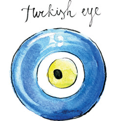 watercolor turkish eye vector image vector image