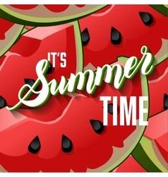 Watermelon Fruit Summer Lettering vector