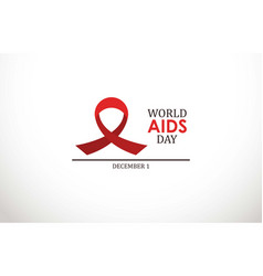 World aids day with red color vector