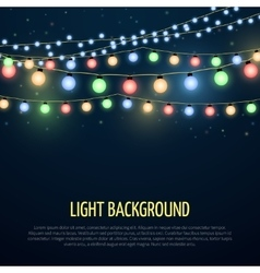Abstract background with christmas garland vector image