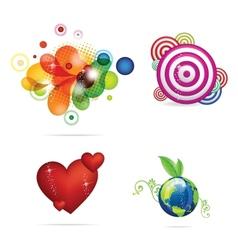 creative and elegance magic symbols set vector image vector image