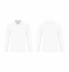 mens white long sleeve t shirt vector image