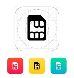 Micro SIM icon vector image vector image