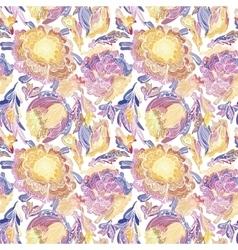 Paradise Floral Motif Texture vector image