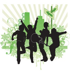 pop band illustration vector image vector image