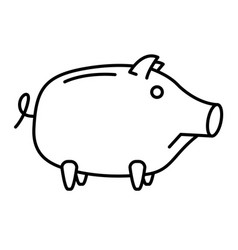 sad piggy bank or money box vector image