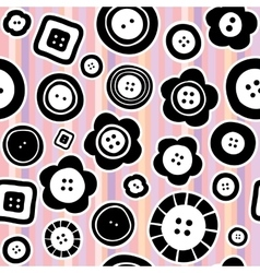 Sewing buttons seamless pattern vector image vector image