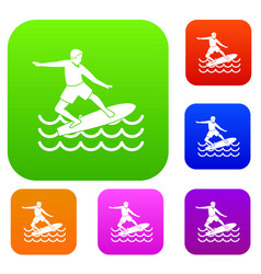 surfer set collection vector image vector image