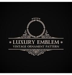 Vintage logo calligraphic elegant decor vector