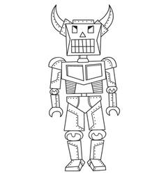 vintage robot doodle vector image