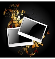 web icon photo frames vector image vector image