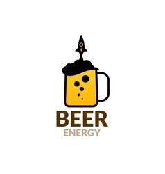 Bear logo rocket energy for a real astronaut vector