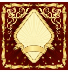 gold vintage diamond frame vector image vector image