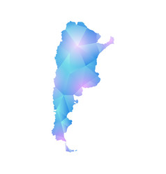 map of argentina design polygon vector image