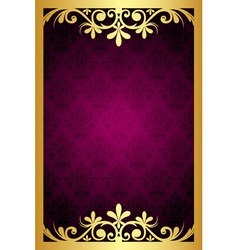 maroon frame with gold ornament vector image