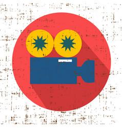 movie grunge camera symbol clean vector image