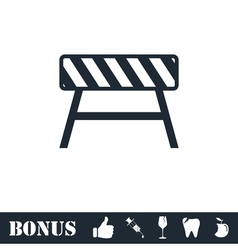 Road barrier icon flat vector image vector image
