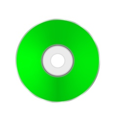 Green Compact Disc vector image vector image