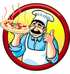 pizza man vector image vector image