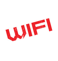 Wifi rubber stamp vector