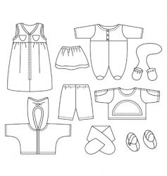 child clothes vector image vector image