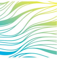 color hand-drawing wave sea background blue vector image vector image