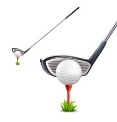 Golf Realistic Set vector image vector image
