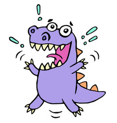 happy greeting purple dragon vector image vector image